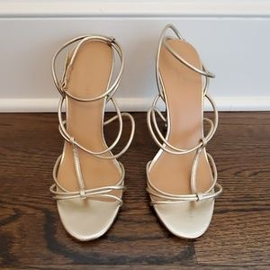 Halston Heritage women's gold sandals in size 10